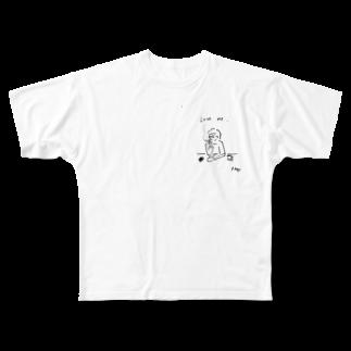 R_kogoのLove me Full graphic T-shirts