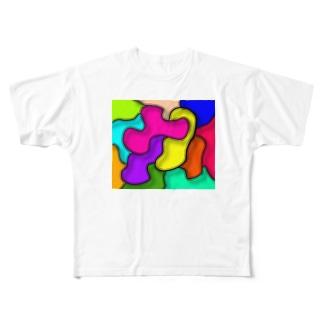 色いろいろ Full graphic T-shirts