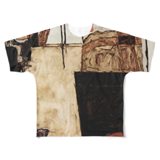 Art Baseのエゴン・シーレ / 1911 /Schiele's Room in Neulengbach / Egon Schiele Full graphic T-shirts