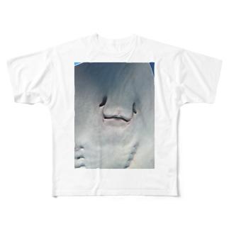 ボク、エイです Full graphic T-shirts