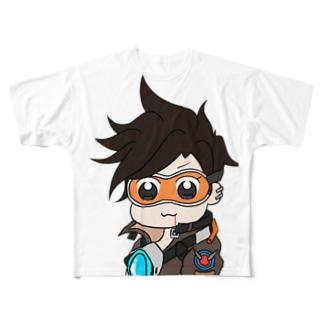 トレーサー〜ポプテ風味〜 Full graphic T-shirts