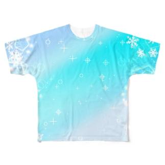 グラデ1 Full graphic T-shirts