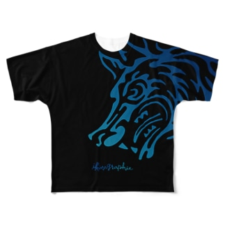 HOW HOWLING Full graphic T-shirts