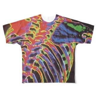 仮 Full graphic T-shirts