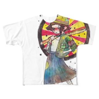 ビッグプリント 「暴走教育」 Full graphic T-shirts