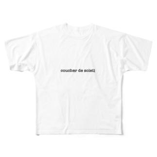 coucher de soleil Full graphic T-shirts