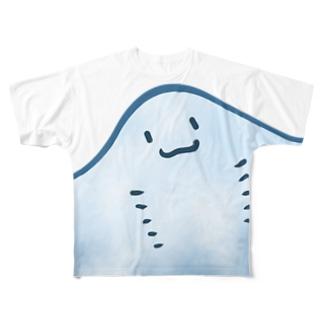 エイのおなか Full graphic T-shirts