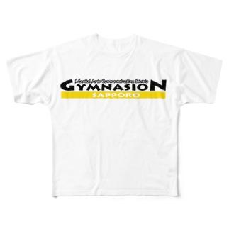 ギムナシオンロゴver.イエロー Full graphic T-shirts