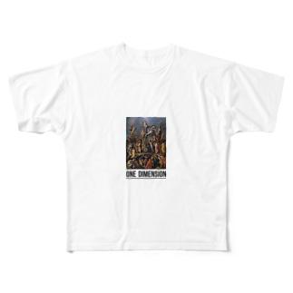 絵画T(ONE DIMENSION) Full graphic T-shirts