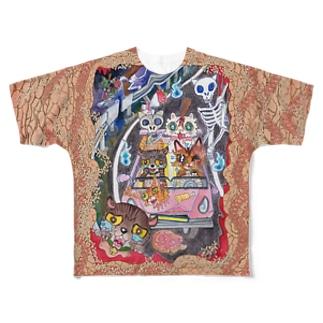 交通事故ニャ♪ Full graphic T-shirts