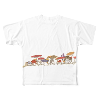 きのこパレード Full graphic T-shirts