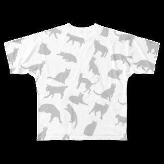my idealの野良猫大全集 シリーズ Full graphic T-shirts