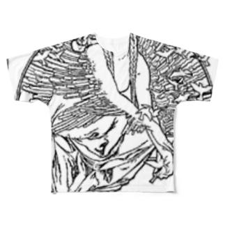 ミュシャ / 1897 /Coverage for the volume of grandmothers Songs / Alphonse Mucha Full graphic T-shirts