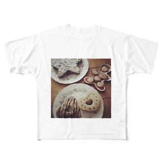 焼き菓子パーティー Full graphic T-shirts