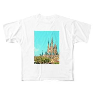 シンデレラ城 Full graphic T-shirts