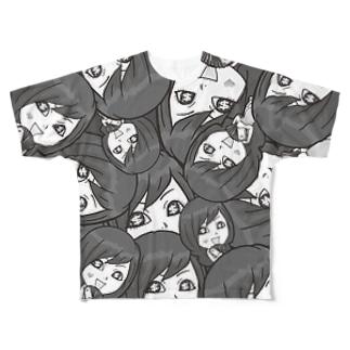 【両面フルグラ】Psyche♥VANIKO(BLACK) Full graphic T-shirts