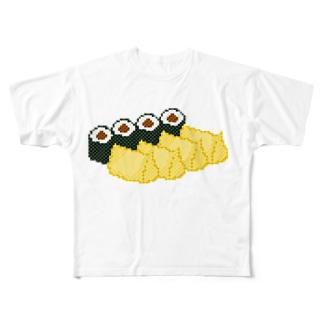お寿司クン(助六 関東) Full graphic T-shirts