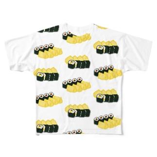 お寿司クン(助六) Full graphic T-shirts