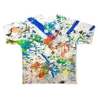 カラフル3 Full graphic T-shirts
