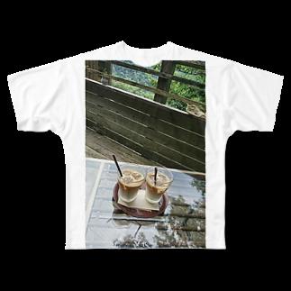 ニブイチ屋の箱根にて Full graphic T-shirts
