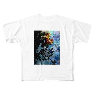 薔薇の影 Full graphic T-shirts