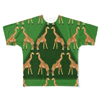 KISSING GIRAFFES Full graphic T-shirts