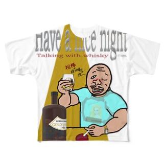 【Have a nice night】フルグラフィックt Full graphic T-shirts