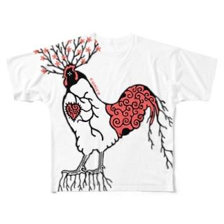 にわとりの木 Full graphic T-shirts