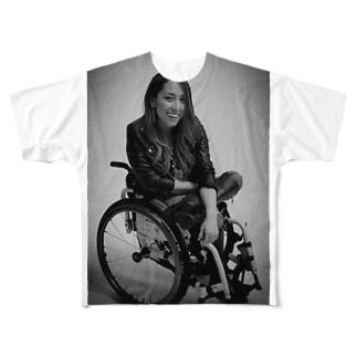 白黒で笑ってるよシリーズ Full graphic T-shirts