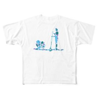 Supdog ポメラニアン Full graphic T-shirts