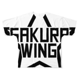 SAKURA WINGスター白 Full graphic T-shirts