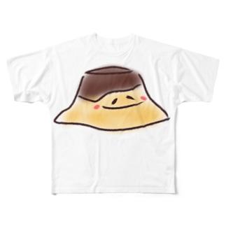 やる気のないプッチンプリン Full graphic T-shirts