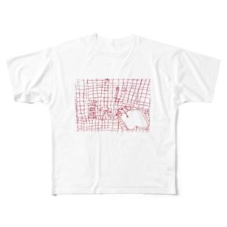 実家のお風呂 Full graphic T-shirts