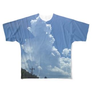 夏の空Tシャツ Full graphic T-shirts