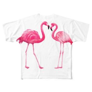Flamingo Full graphic T-shirts