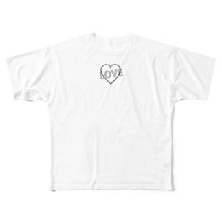 シンプル(LOVE) Full graphic T-shirts