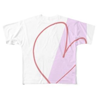 はーと Full graphic T-shirts