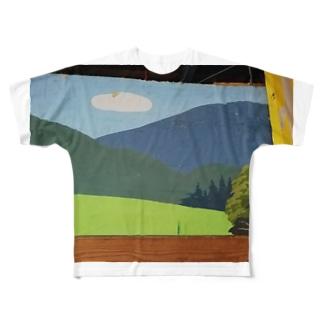 大谷工房のロフト壁 Otani studio's loft wall Full graphic T-shirts