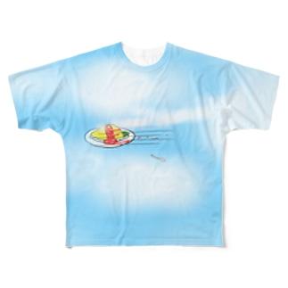 理性を失ったオムライス Full graphic T-shirts