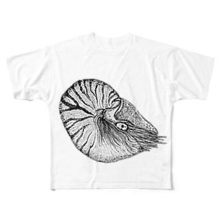オウム貝 Full graphic T-shirts
