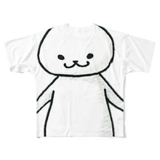 猫に限りなく近いUMA Full graphic T-shirts