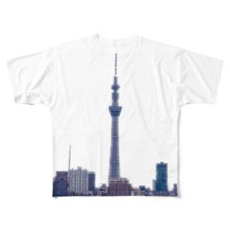 スカイツリータワー Full graphic T-shirts