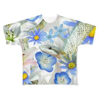 蒼月さん Full graphic T-shirts