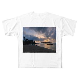 guam sunset Full graphic T-shirts