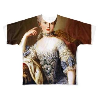 王妃 マリー・アントワネット Full graphic T-shirts