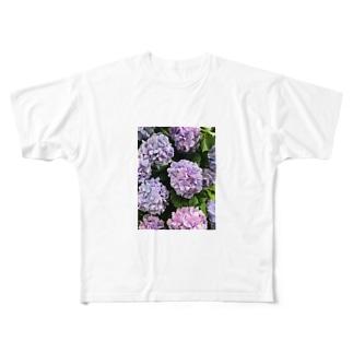 アジサイ(ぱすてる) Full graphic T-shirts