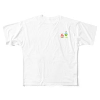 SHUロゴ(オリジナル) Full graphic T-shirts