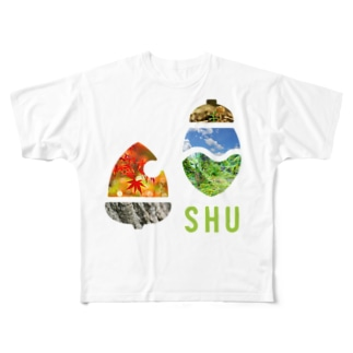 SHUロゴ・ピクチャー Full graphic T-shirts