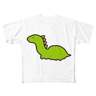 ゆるいきょうりゅう Full graphic T-shirts