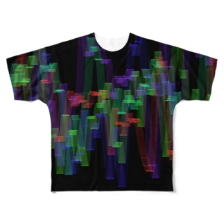 Waves05 Full graphic T-shirts